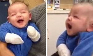 태어난지 100일만에 엄마 목소리 처음 들은 아기 (영상)
