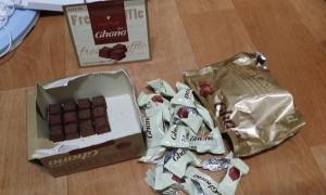 한 상자에 '12개' 들어있는 롯데 '가나' 질소 초콜렛