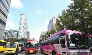 관광버스기사들이 시내 면세점