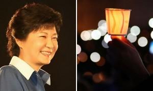 '착한' 촛불집회에 청와대에 앉아 웃고 있는 박근혜