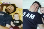 과거 아버지와 찍은 사진 재현한 샘 해밍턴과 윌리엄 (영상)