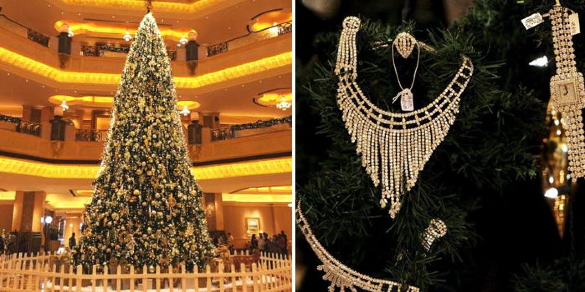 '다이아몬드', '사파이어'로 장식한 '132억' 크리스마스트리