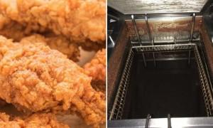 편의점 알바생이 폭로한 미니스톱 치킨 튀기는 기름 상태