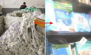 오물 묻은 '기저귀' 재활용해 새 제품으로 버젓이 판매한 악덕업체
