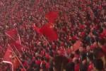 경기 전 애국가 부르는 한국 선수에게 '야유'하는 중국 관중