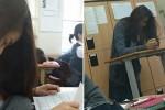 연습생 신분 숨기고 학교에서 '쪽잠'자는 걸그룹 멤버 (사진)