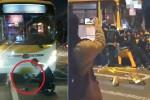 버스에 깔린 20대 남성, 힘 합쳐 구조한 시민들 (영상)