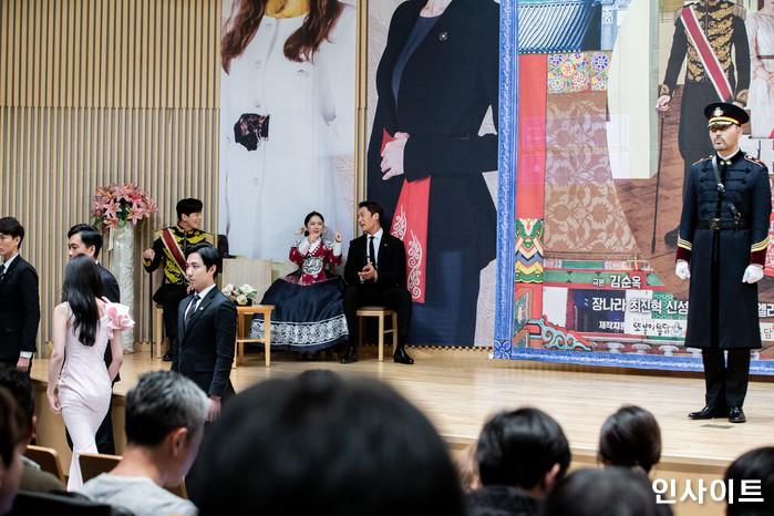 출연진들이 20일 오후 서울 목동 SBS에서 열린 새 수목드라마 '황후의 품격' 제작발표회에 참석해 포즈를 취하고 있다. / 사진=고대현 기자 daehyun@