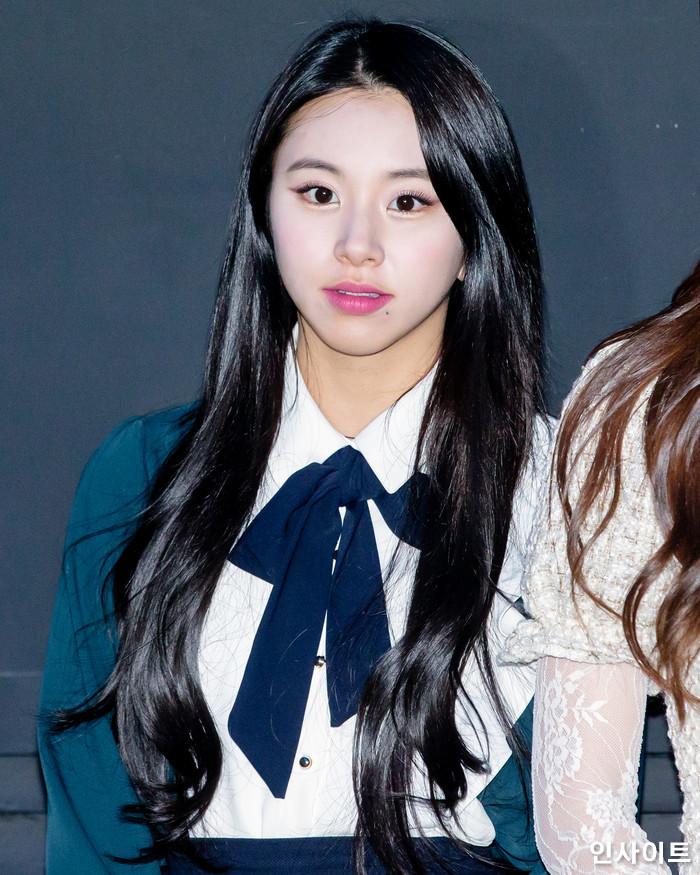 트와이스 채영이 6일 오후 서울 용산CGV 아이파크몰에서 열린 영화 '트와이스랜드' 언론시사회에 참석해 무대인사를 하고 있다. / 사진=고대현 기자 daehyun@
