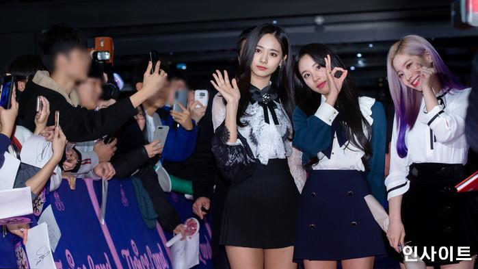 트와이스 쯔위 채영 다현이 6일 오후 서울 용산CGV 아이파크몰에서 열린 영화 '트와이스랜드' 언론시사회에 참석해 레드카펫을 밟고 있다. / 사진=고대현 기자 daehyun@