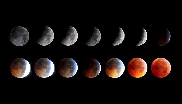 오는 21일, 거대 용이 달 집어삼키는 '슈퍼+울프+블러드문 ...
