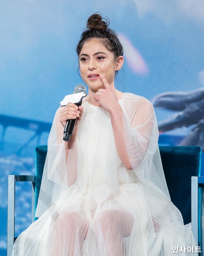로사 살라자르가 24일 오후 서울 여의도 콘래드호텔서 열린 영화 '알리타 : 배틀엔젤' 내한 기자간담회에 참석해 포즈를 취하고 있다. / 사진=고대현 기자 daehyun@