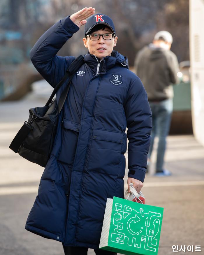 유재석이 26일 오전 서울 여의도동 KBS별관에서 열린 KBS 2TV '해피투게더 시즌4' 녹화에 참석하고 있다. / 사진=고대현 기자 daehyun@