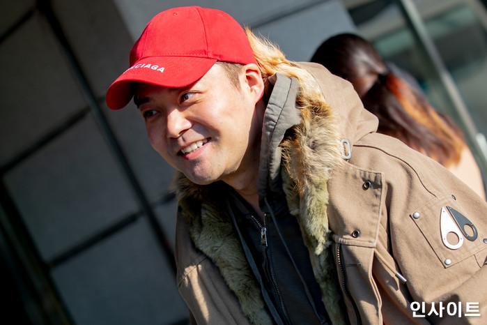 전현무가 26일 오전 서울 여의도동 KBS별관에서 열린 KBS 2TV '해피투게더 시즌4' 녹화에 참석하고 있다. / 사진=고대현 기자 daehyun@