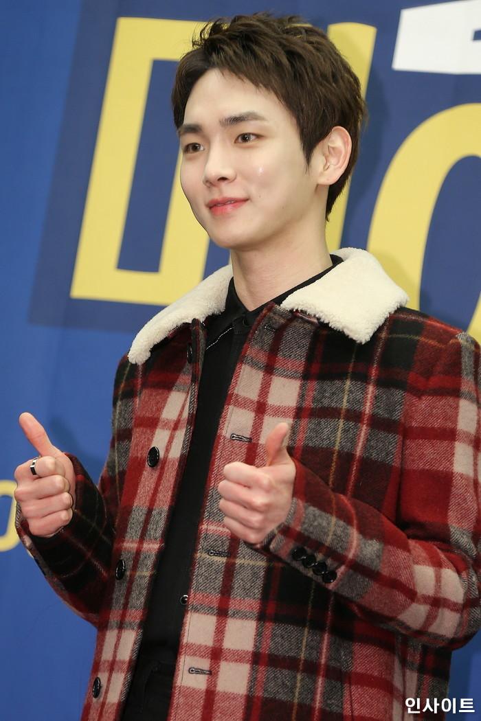 샤이니 키가 6일 오후 서울 마포구 스탠포드호텔에서 열린 tvN 예능 '서울메이트2' 제작발표회에 참석해 포즈를 취하고 있다. / 사진=박찬하 기자 chanha@
