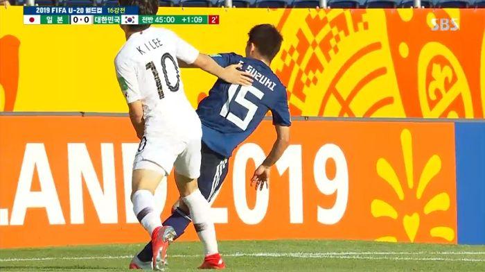 U-20 월드컵 8강 진출권 달린 한일전 득점 없이 '0대 0' 전반 종료