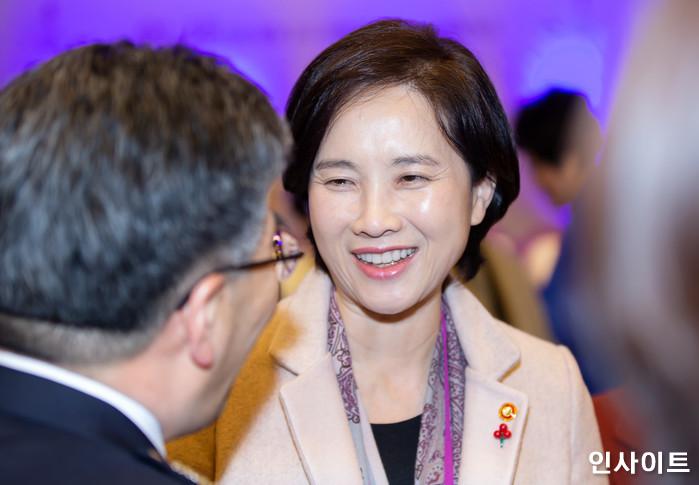지난 1월 18일 2019 여성계 신년 인사회 참석한 유은혜 교육부 장관 / 사진=박찬하 기자 chanha@