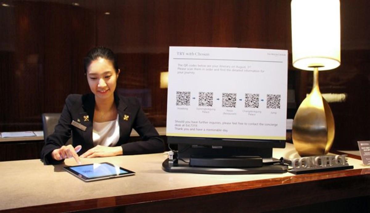 서울 웨스틴조선호텔, 국내 최초 QR코드 적용한 '스마트 컨시어지' 도입