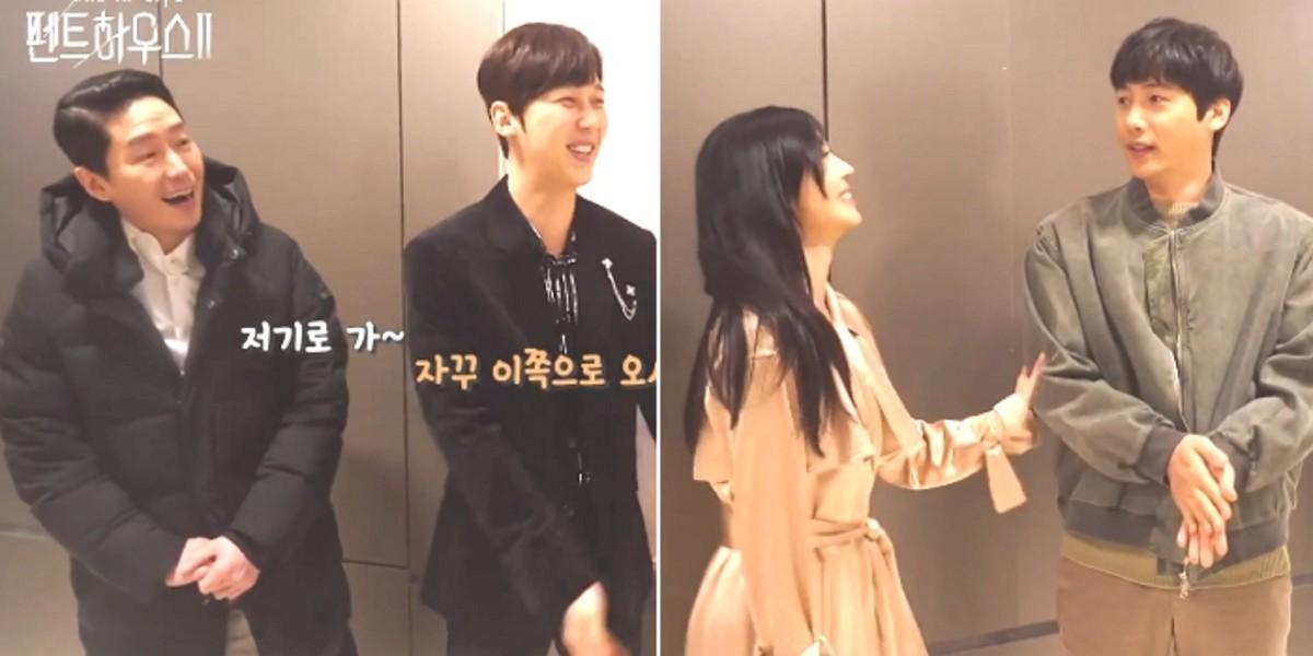 김소연의 '진 남편'을 만난 후 무엇을해야할지 모르는 '펜하 2'의 전남편과 예비 남편 (영상)